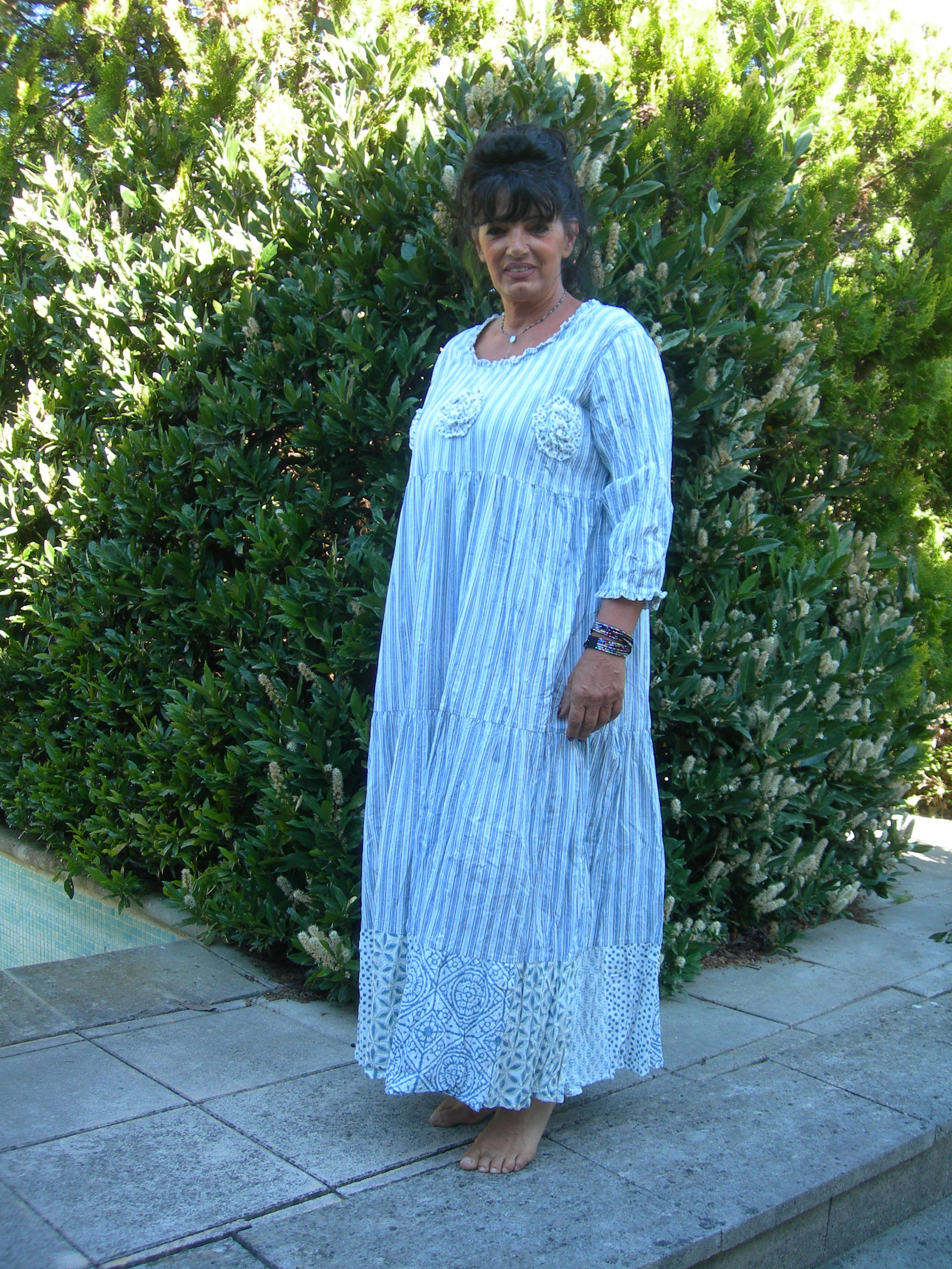 DRESS ADELLE BLU DE NADIR POSITANO